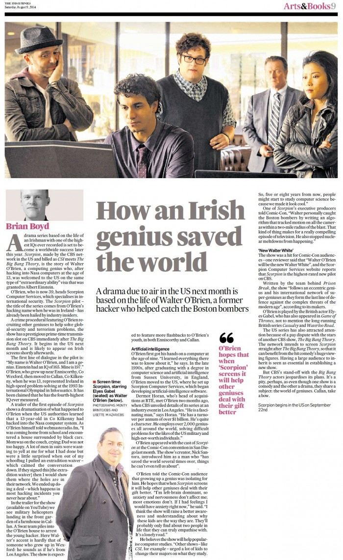 How an Irish Genius Saved the World